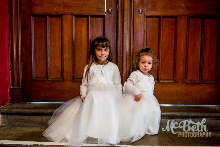 Flower girls at edinburgh Hub weddinh