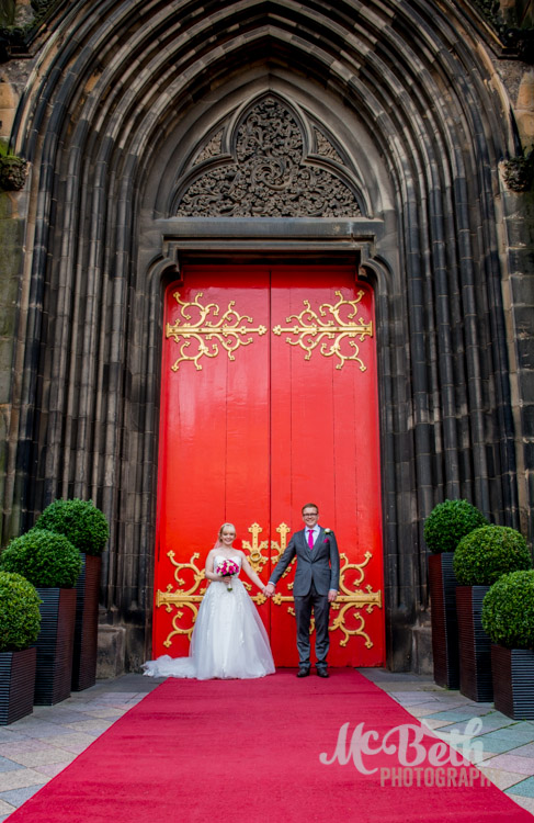 Hub Edinburgh big red front door