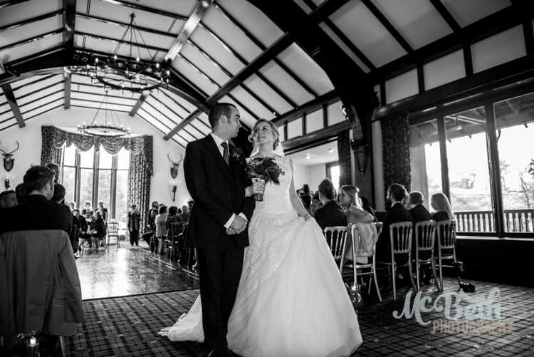 bride and groom at Brig O Doon house hotel