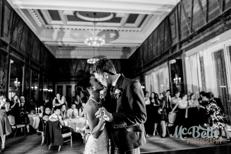 first dance at edinburgh wedding