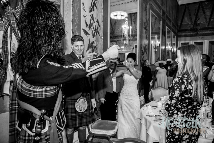 Toast the Piper  edinburgh wedding