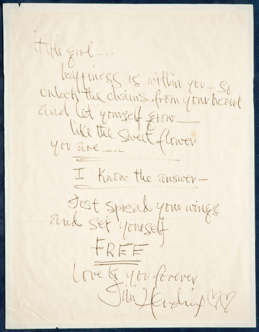 Jimmy Hendrix love letter