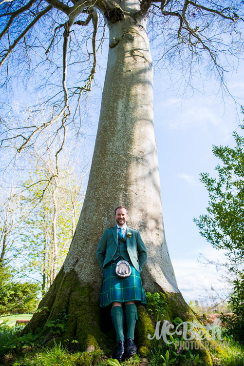 Scottish country wedding at Wedderburn Castle.